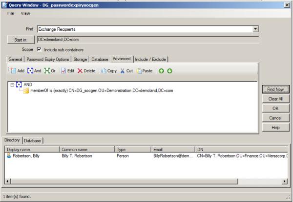 password expiration security group