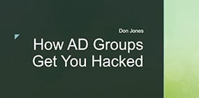 AD Groups Hacked